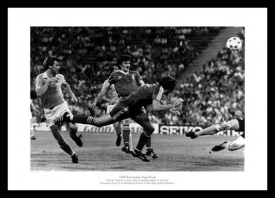 Nottingham Forest 1979 European Cup Final Winning Goal Photo Memorabilia
