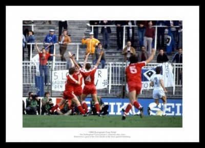 Nottingham Forest 1980 European Cup Final Goal Photo Memorabilia