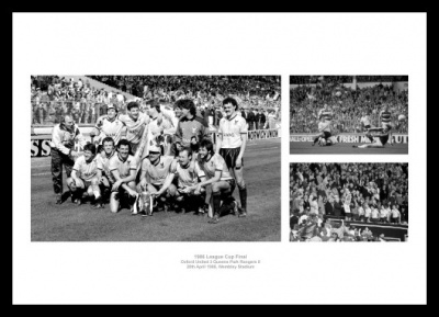 Oxford United 1986 League Cup Final Photo Memorabilia
