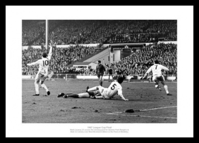 Queens Park Rangers 1967 League Cup Final Goal Photo Memorabilia