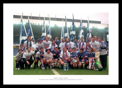 Rangers '9 in a Row' 1997 League Champions Photo