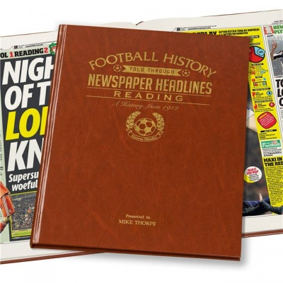Personalised Reading FC Historic Newspaper Memorabilia Book
