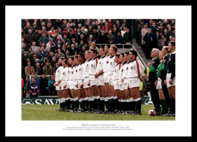 England 1995 Grand Slam Rugby Team Photo Memorabilia