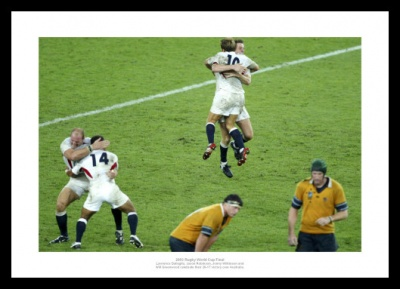 England 2003 Rugby World Cup Celebrations Photo Memorabilia