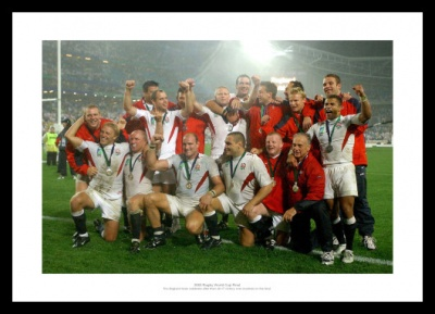 England 2003 Rugby World Cup Final Team Celebrations Photo