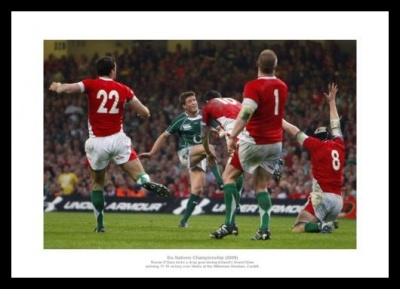Ireland 2009 Grand Slam Ronan O'Gara Photo Memorabilia