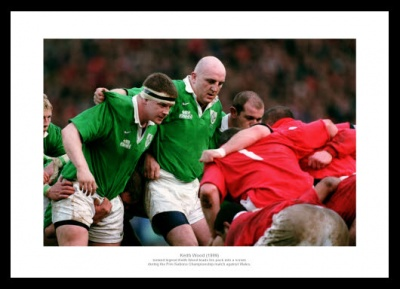 Keith Woods Ireland Rugby Legend Photo Memorabilia