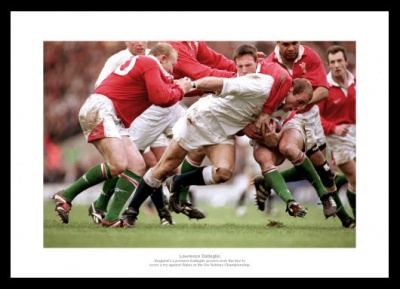 Lawrence Dallaglio England Rugby Legend Photo Memorabilia