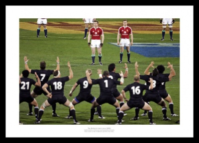 The British & Irish Lions Face the Haka Photo Memorabilia