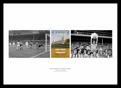 Sunderland 1973 FA Cup Final Print Montage