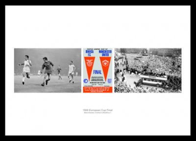 Manchester United 1968 European Cup Final Photo Memorabilia
