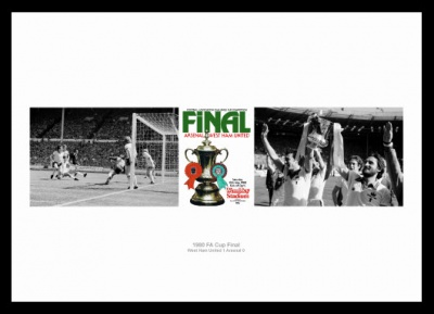 West Ham United 1980 FA Cup Final Photo Memorabilia