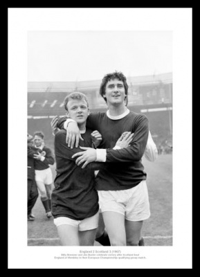 Scotland Football Legends Billy Bremner & Jim Baxter Photo Memorabilia