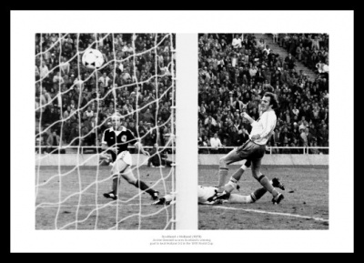 Scotland v Holland 1978 World Cup Winning Goal Photo Memorabilia