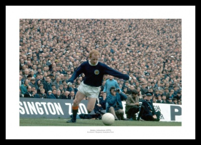 Jimmy Johnstone Scotland v England Photo Memorabilia