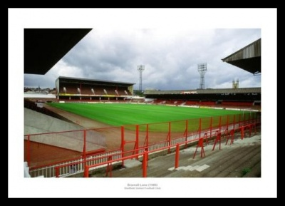 Sheffield United Brammall Lane Stadium 1986 Photo Memorabilia