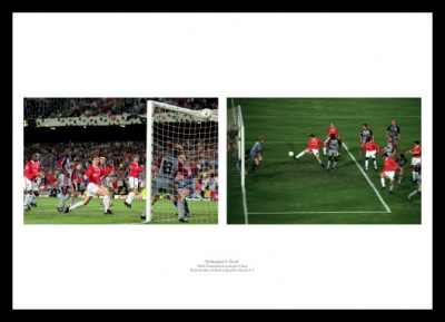 Manchester United 1999 Champions League Final Solksjaer Goal Photo