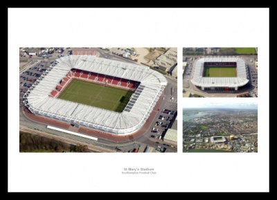 Southampton St Mary's Stadium Aerial Photo Memorabilia