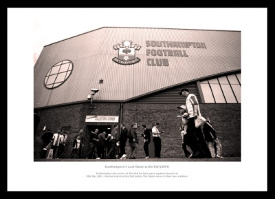 The Dell Southampton FC Historic Photo Memorabilia