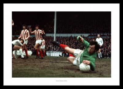 Gordon Banks Stoke City Legend 1972 Photo Memorabilia