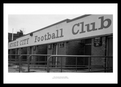 Stoke City Memorabilia - Victoria Ground 1980 Historic Stadium Photo