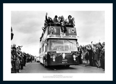 Sunderland AFC 1973 FA Cup Final Open Top Bus Photo