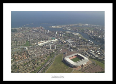 Sunderland AFC Stadium of Light Aerial Photo Memorabilia