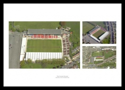 Swindon Town County Ground Aerial Views Photo Memorabilia