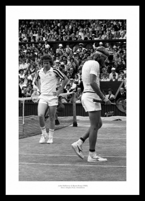 Bjorn Borg v John McEnroe 1980 Wimbledon Tennis Final Photo
