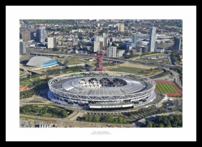 West Ham United London Stadium Aerial View Photo Memorabilia