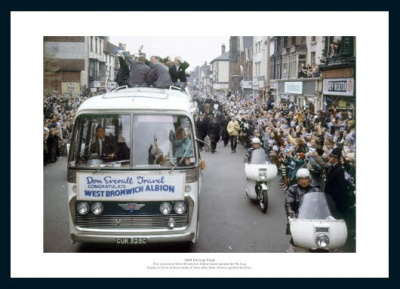 West Brom 1968 FA Cup Final Open Top Bus Photo
