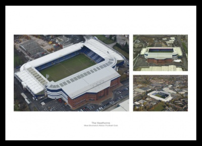 The Hawthorns Stadium West Bromwich Albion Aerial Photo Memorabilia
