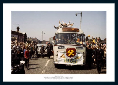 West Ham 1964 FA Cup Final Open Top Bus Photo