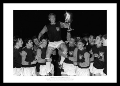 West Ham 1965 European Cup Winners Cup Team Photo Memorabilia