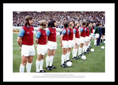 West Ham United 1975 FA Cup Final Team Photo Memorabilia
