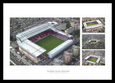 West Ham Upton Park Stadium Aerial View Photo Memorabilia