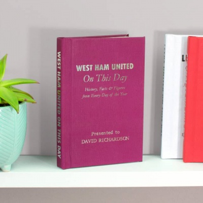Personalised West Ham United 'On This Day' Book