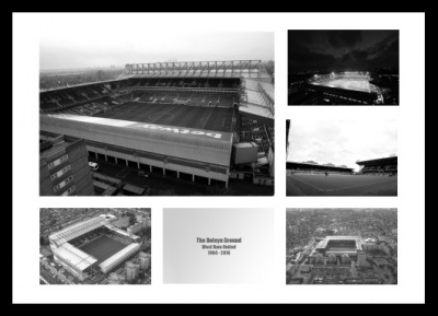 West Ham Boleyn Ground (Upton Park) Stadium Photo Memorabilia