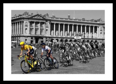 Wiggins & Cavendish Tour de France Spot Colour Photo Memorabilia
