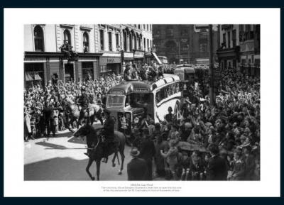 Wolverhampton Wanderers 1949 FA Cup Final Open Top Bus Photo