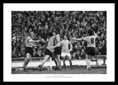 Wolverhampton Wanderers 1974 League Cup Final Goal Photo Memorabilia