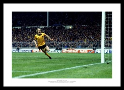 Wolverhampton Wanderers 1980 League Cup Final Goal Photo Memorabilia