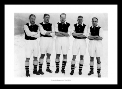 Arsenal FC 1930s Football Legends Photo Memorabilia
