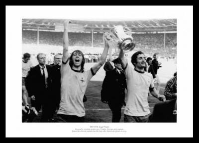 Arsenal 1971 FA Cup Final Charlie George & Frank McLintock Photo