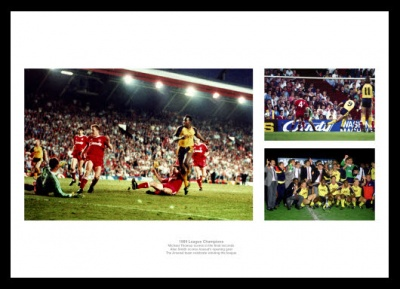 Liverpool v Arsenal 1989 League Title Photo Memorabilia