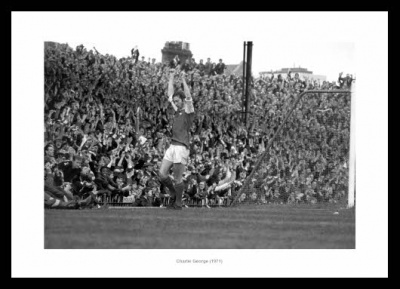 Charlie George Celebrates at Highbury 1971 Photo Memorabilia