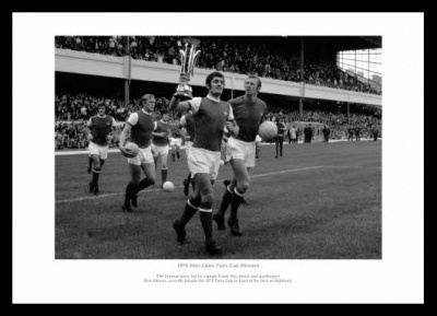 Arsenal 1970 Frank McLintock & Bob Wilson Photo Memorabilia