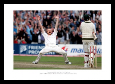 Andrew Flintoff England Ashes 2005 Cricket Photo Memorabilia