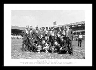 Derby County 1972 League Champions Team Photo Memorabilia