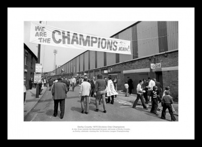 Derby County Baseball Ground 1975 Champions Photo Memorabilia